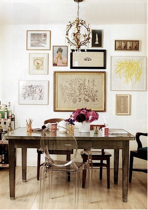 Eclectic is key in this mix-and-matched dining room from Houzz
