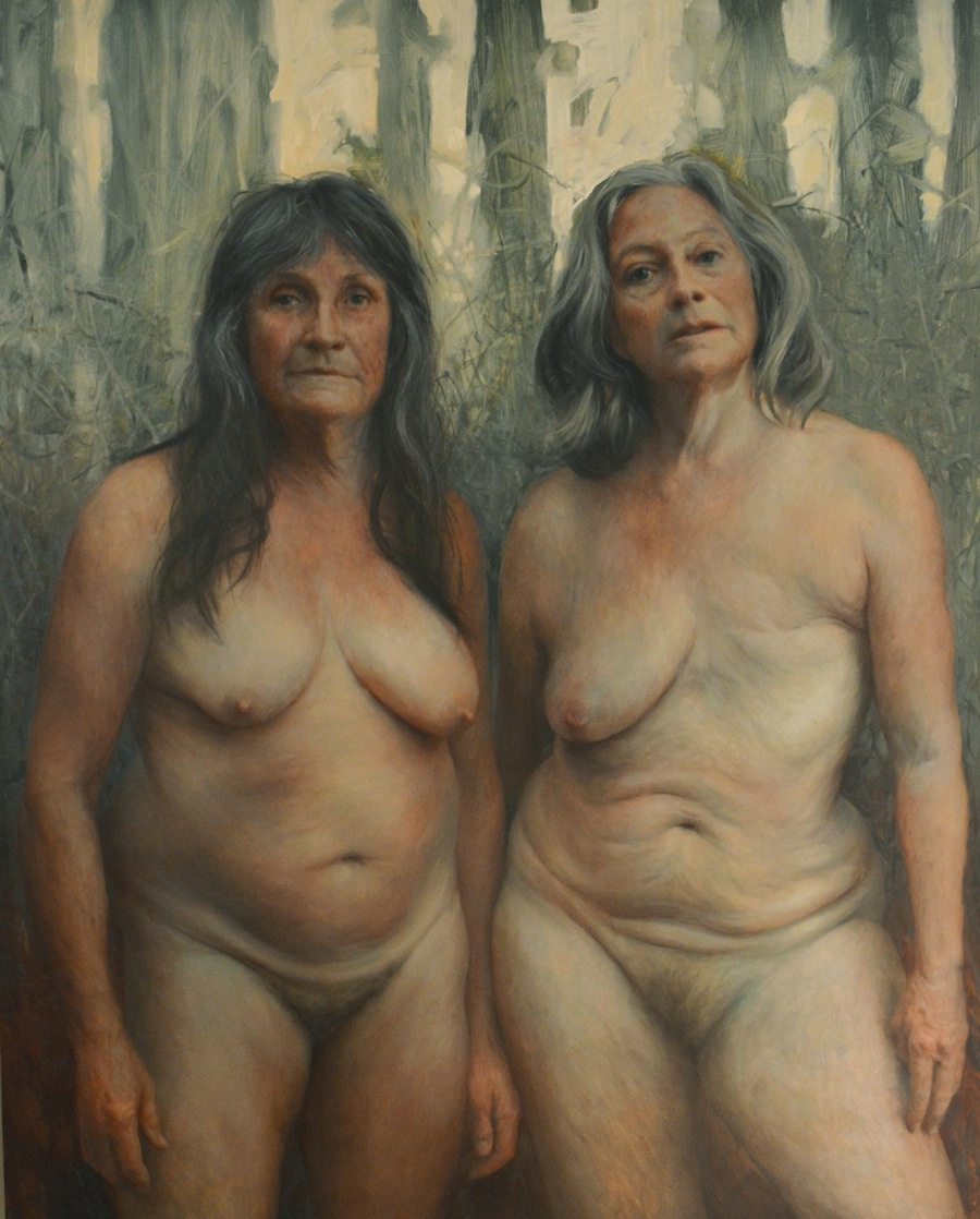 "Aleah Chapin,  Shanti & Heather , oil on panel, 2012, 60""x48"""