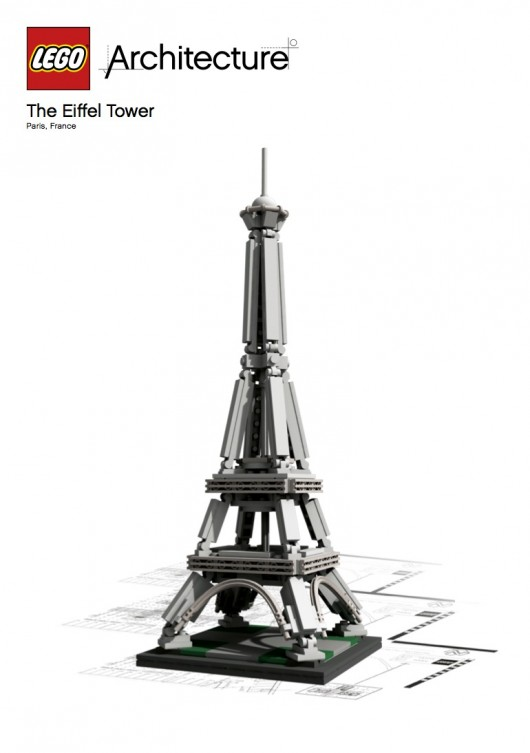 The   Eiffel Tower  . Image © LEGO® Architecture