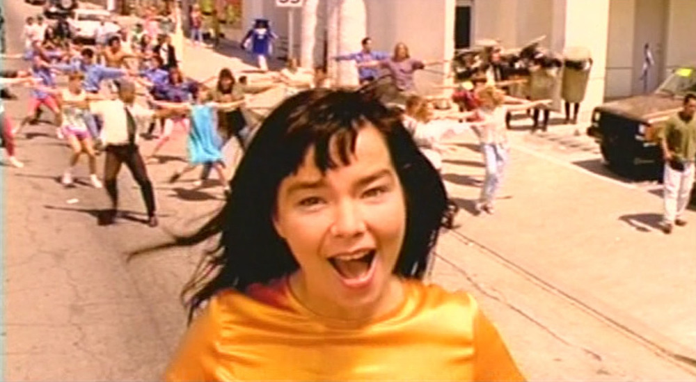 Its Oh So Quiet - Bjork -  via http://www.sprinklesandbooze.com/wp/tag/90s/