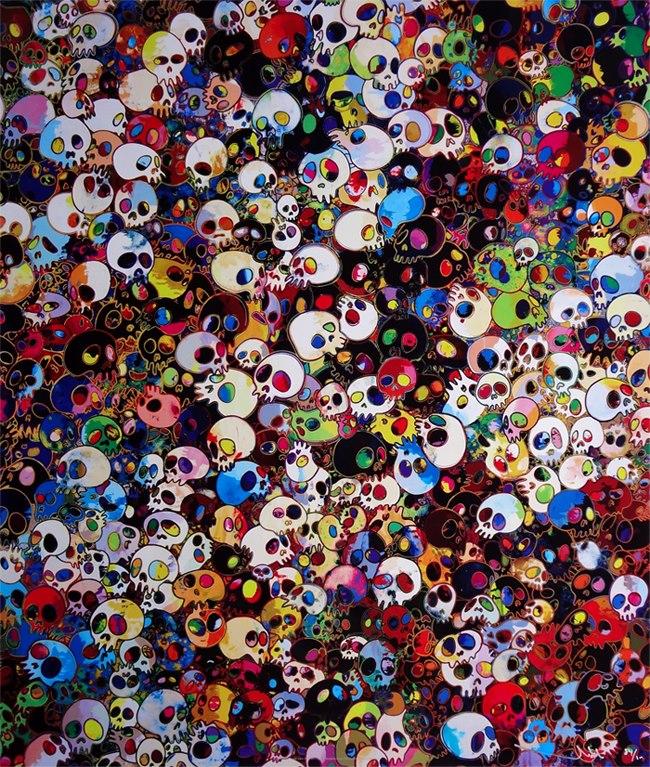 Takashi Murakami - viahttp://www.skullspiration.com/takashi-murakami-skull-art/