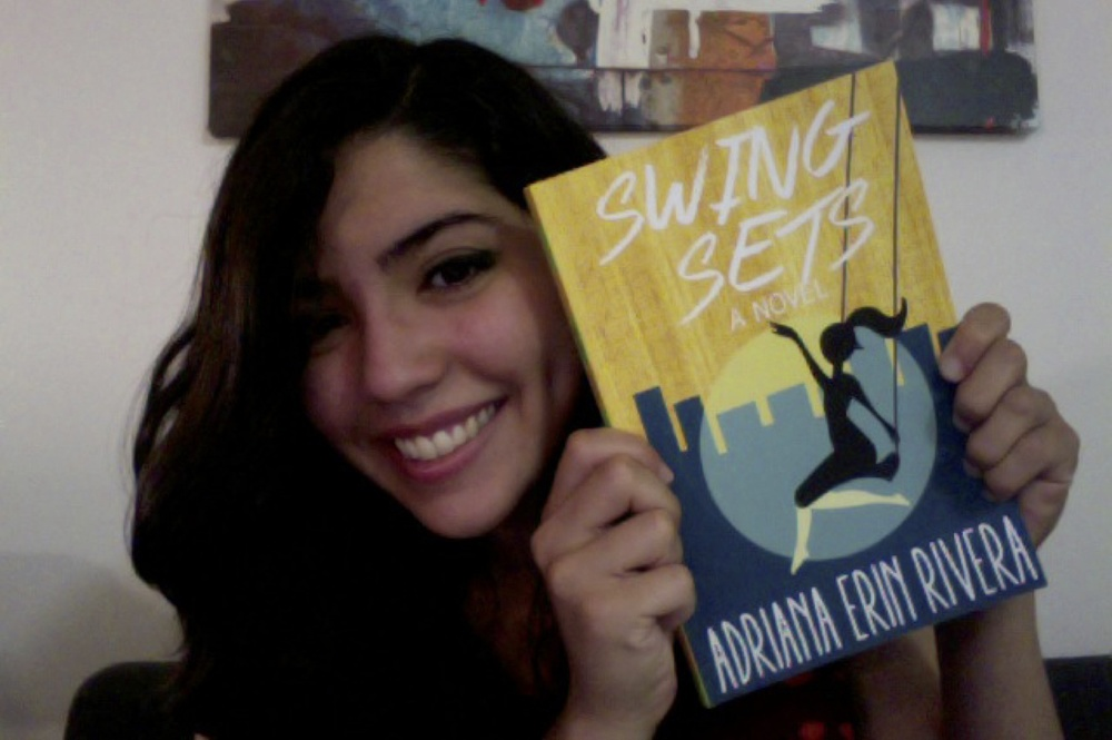 With the first copy of my debut novel SWING SETS.