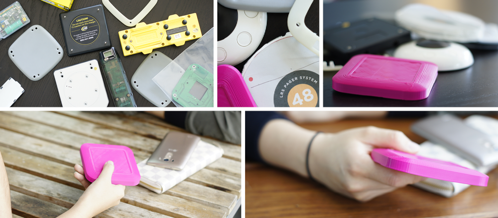 We tested rapid prototypes to determine the product's size, shape, weight, and interaction.