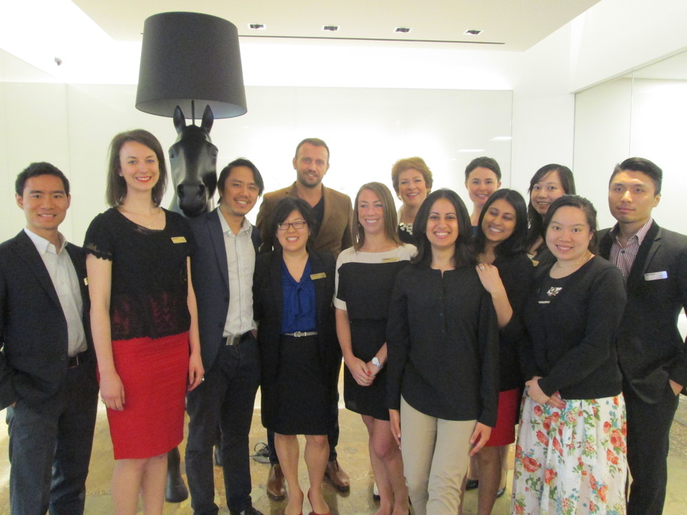 Mauro Porcini, SVP & Chief Design Officer at PepsiCo, with the participants of the Rotman Design Tour 2014