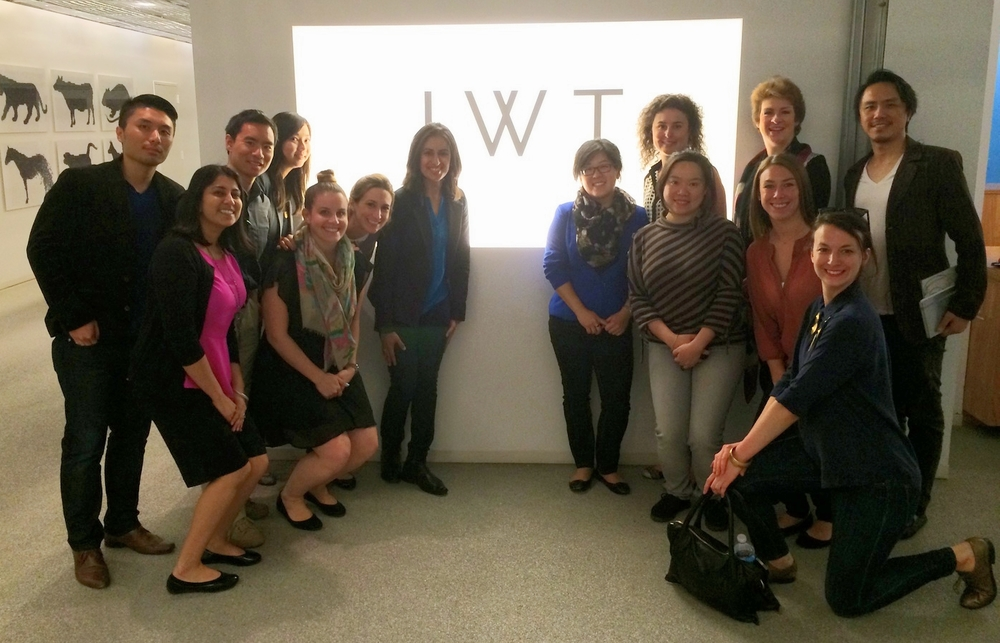 jwt new york office. carly wengrover public relations manager at jwt new york with the participants of jwt office