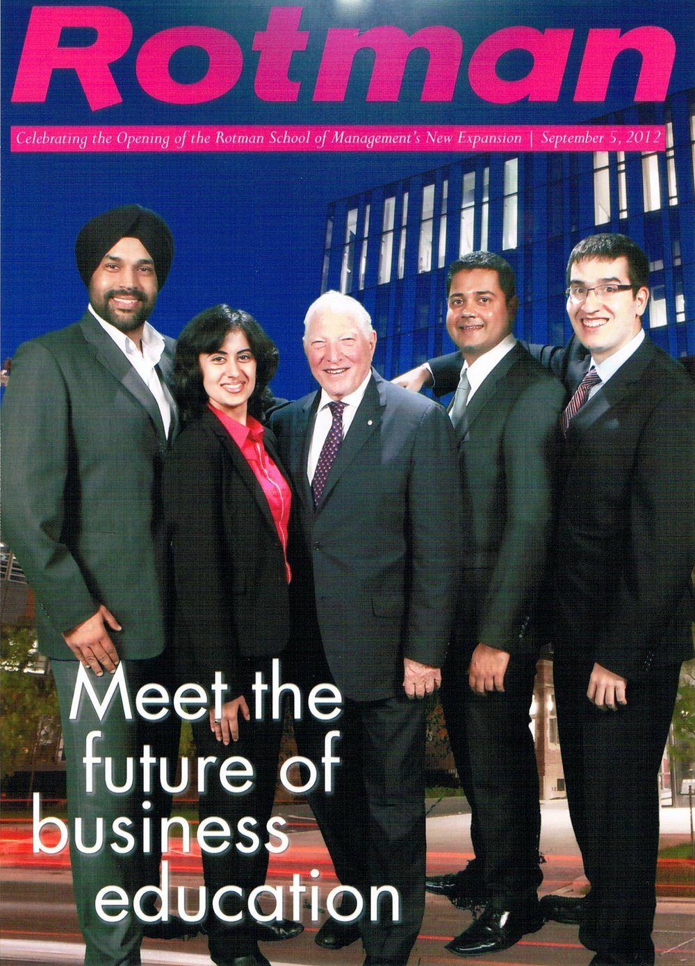 On the cover of the Rotman Magazine with Joe Rotman!