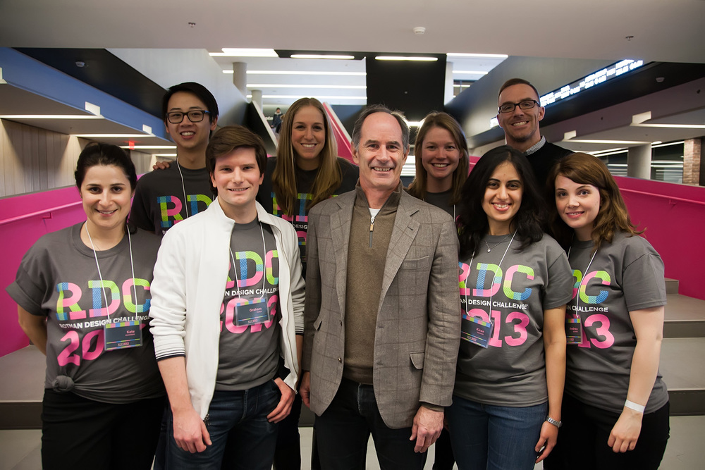 The Business Design Club's Executive Team with Dean Roger Martin at the Rotman Design Challenge 2013