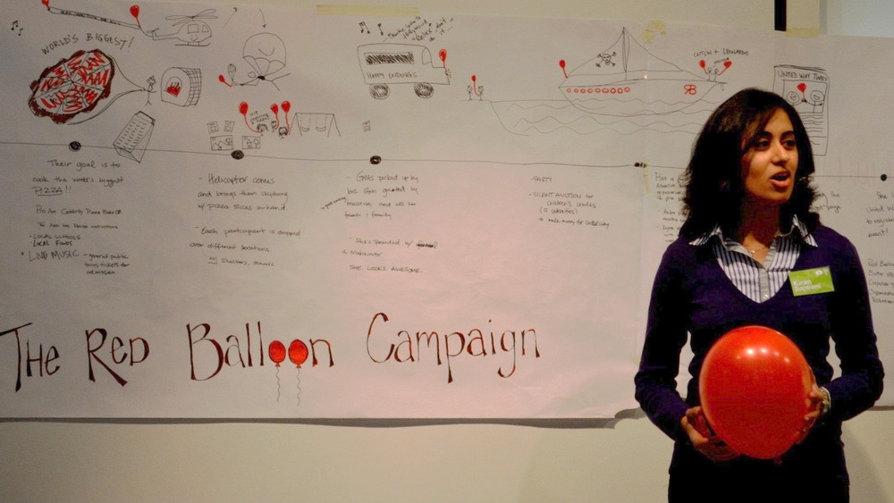 I think I was trying to negotiate a way to keep my red balloon! :P