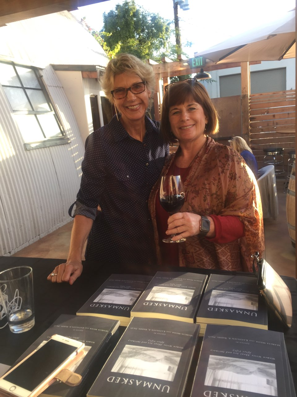 Marcia and co-editor Kathleen Barry