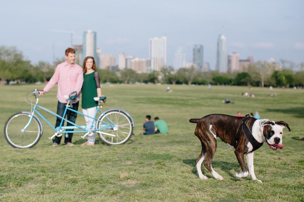 VOTIVE | Montana Wedding Photography | South Austin, Zilker Engagement Portraits | Tandem Bike