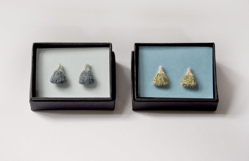 Knitted Mountain Earrings