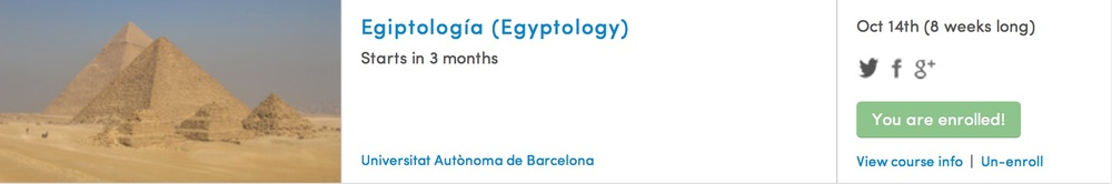 Egyptology and Spanish in the same class - I'm sold!