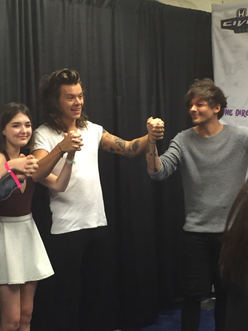 Larry holds hands at meet and greet sofia becomes larrie of the i love the matching smug faces on yslboner and louis a funny breakdown of it is here a pic recap of it is here and a ton of funny memes like this one m4hsunfo