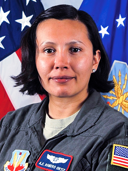 Captain Amparo E. Romero Ortiz - Electronic Warfare Officer, Squadron Tactics OfficerU.S. Air Force