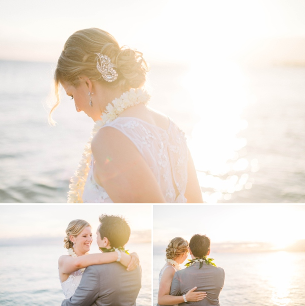 hawaii wedding photography couple ocean sunset by Melissa Wessel, hawaii elopement photographer