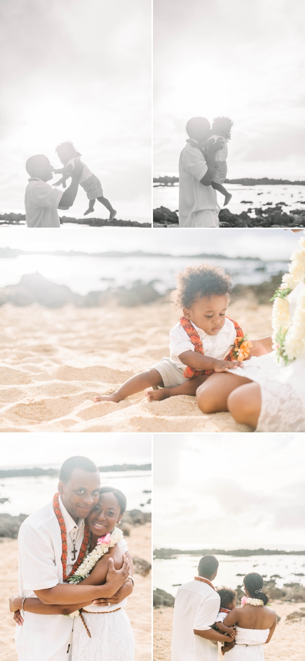 hawaii family celebrating vow renewal by melissa wessel, vow renewal photographer