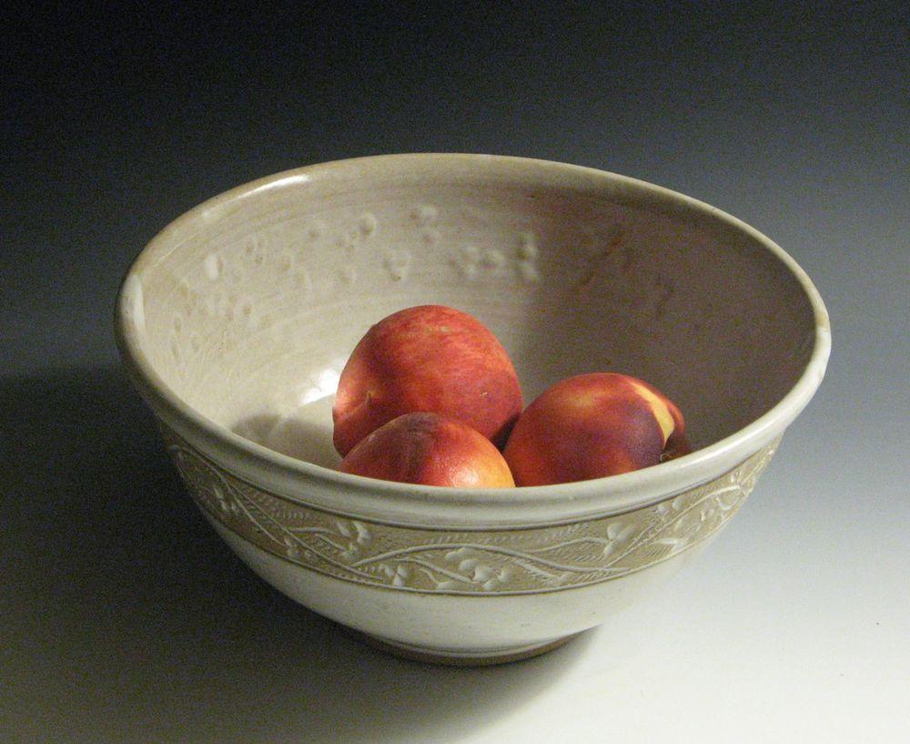 Mixing Bowl..Satin white stoneware