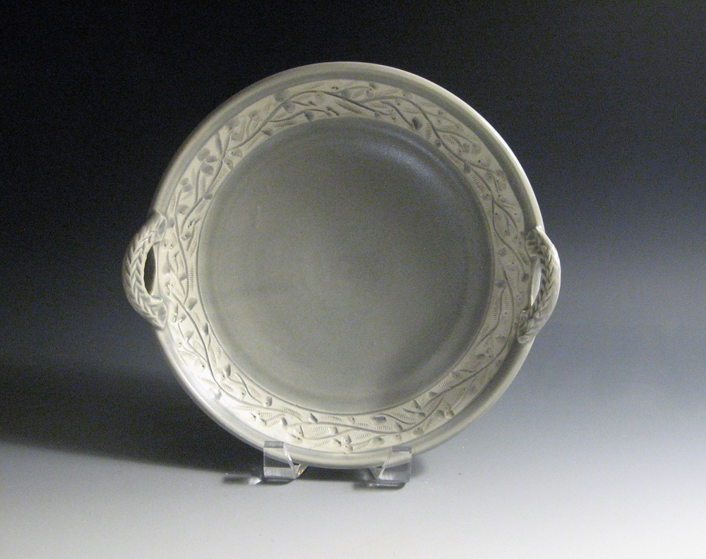 Glenn Dale Gray Serving Dish