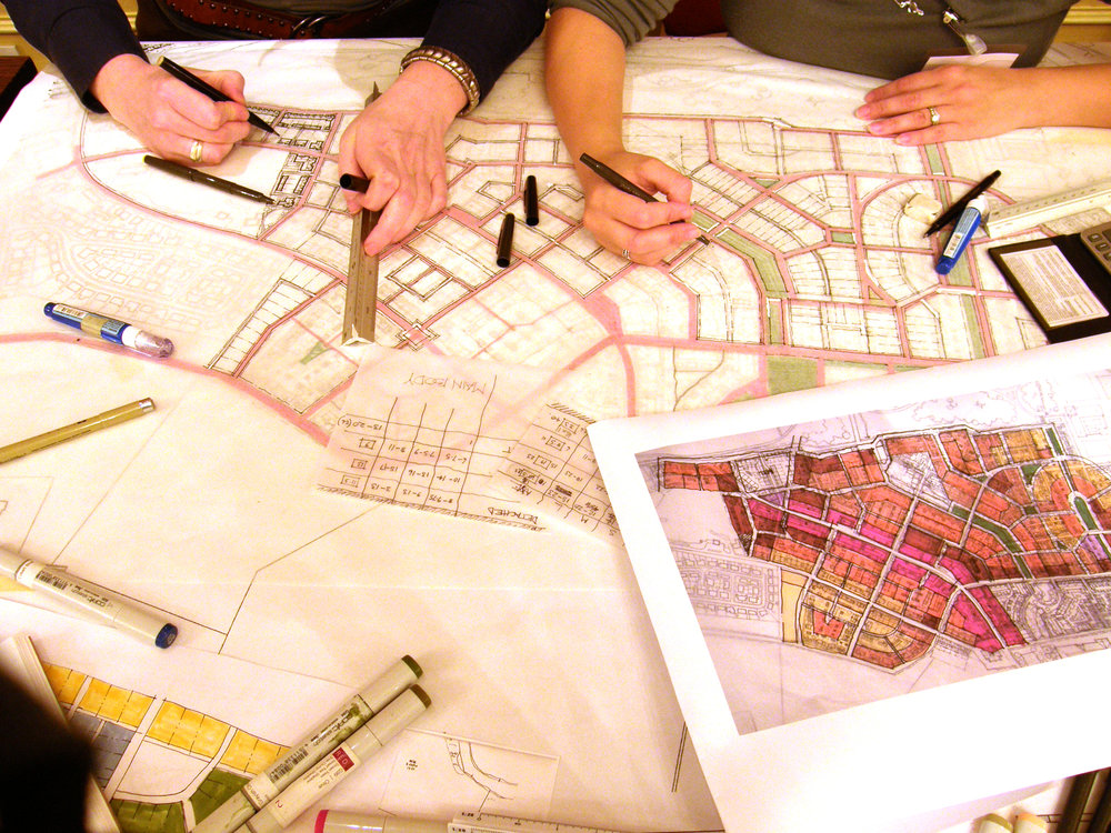 Design charrette in Ellon , Scotland