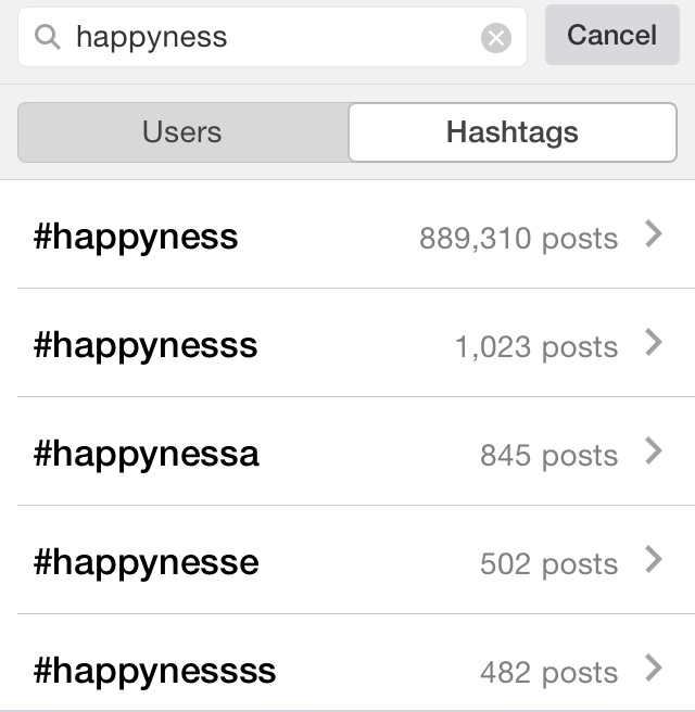 And even though the spelling is way off this hashtag would be perfect for happy posts.