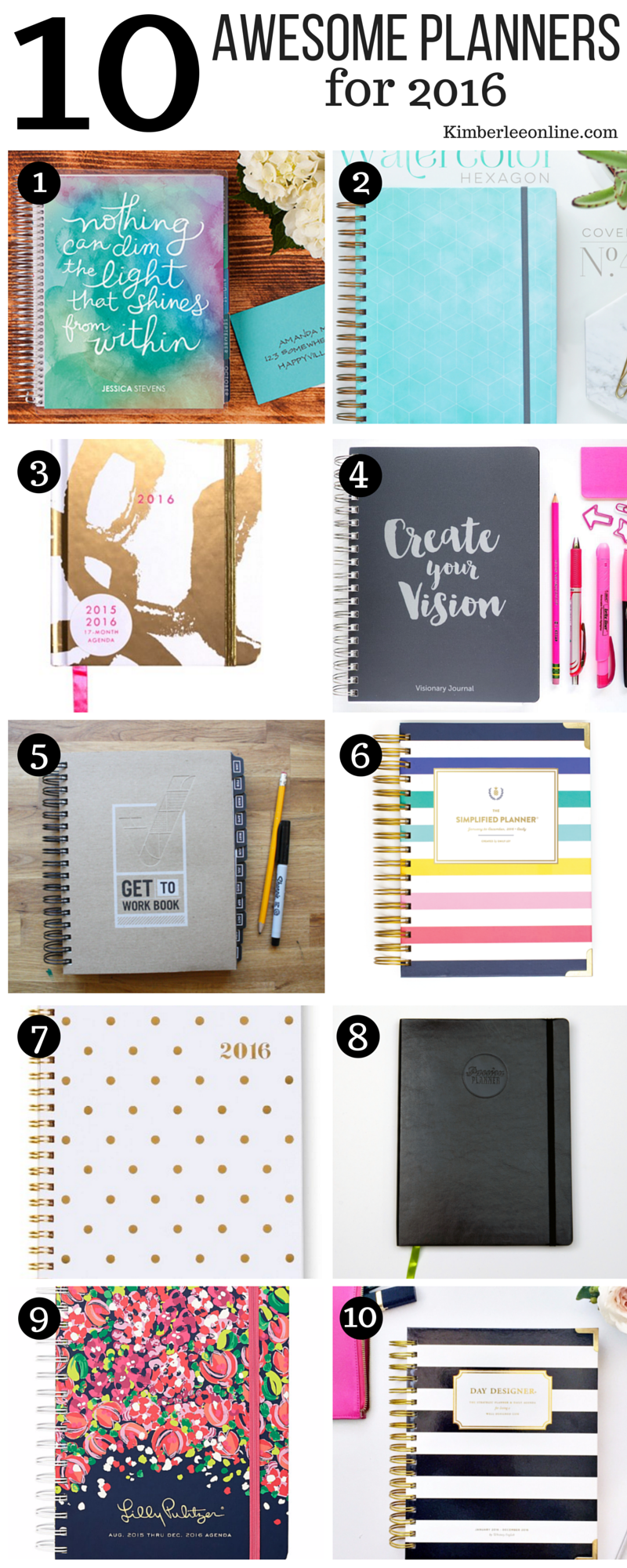 The 10 best planners for women for 2016.