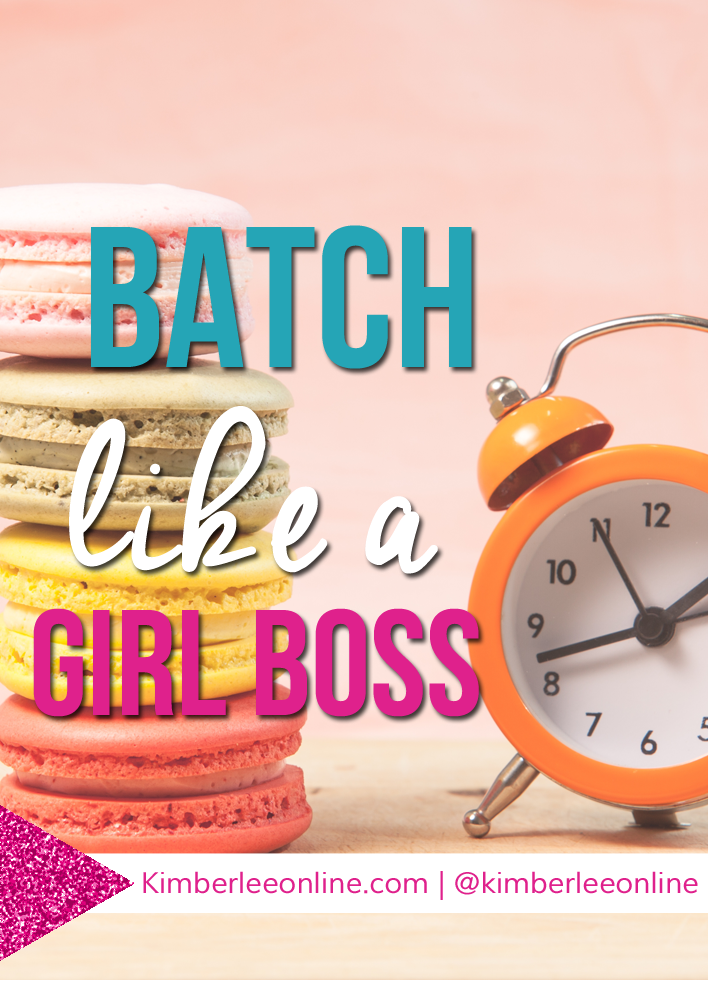 Learn how to batch your content for your business like a girl boss for increased productivity.