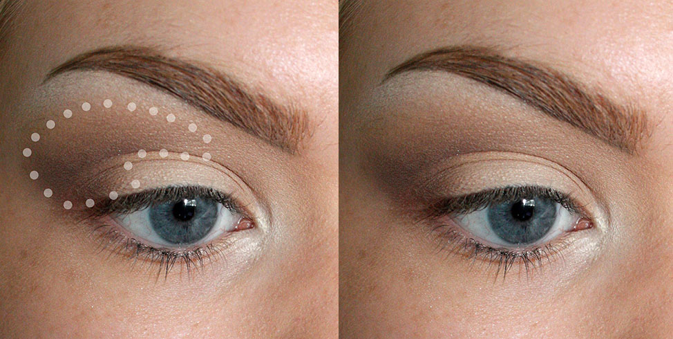 """BRUSH USED: MAC 217 Blend that shit. Using a larger, fluffier brush will create a soft look (which is what we are aiming for). Blend by moving your brush in slow and small """"windshield wiper"""" movements and small circles. Blending is one of those things that come with time. Take it slow to avoid the colors getting muddy and to keep a more precise look to the shadow placement."""