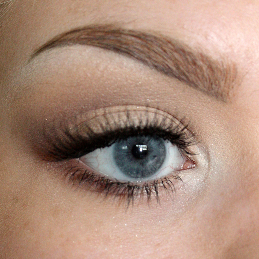 Add lashes and/or mascara and you have a basic eyeshadow look! You can make this as light, dark, or colorful as you like.