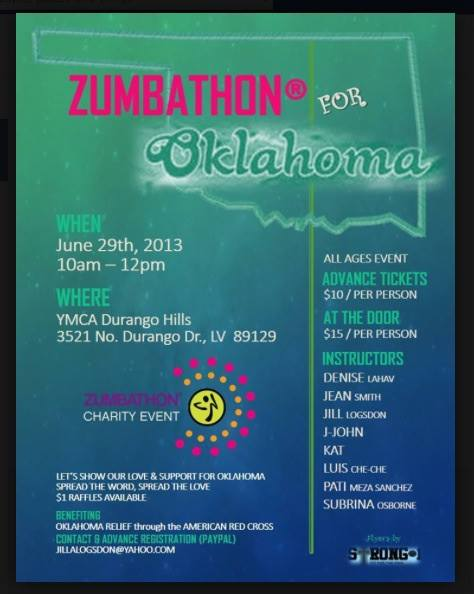 Zumbathon For Oklahoma