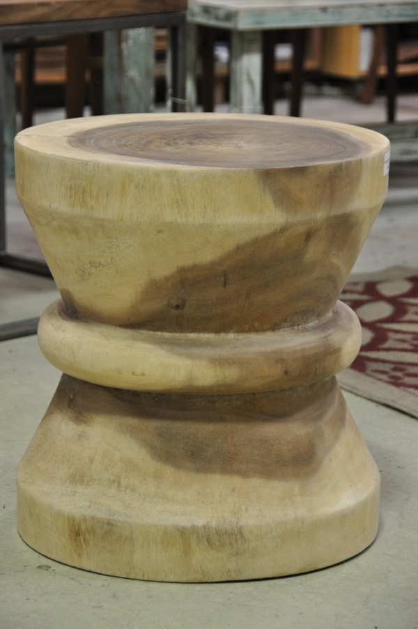 "Hour Glass Side Table Price: $335 18""D x 18""H"