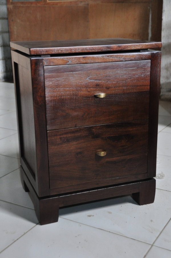 "Floating Top Night Stand Price: $425 18""W x 14""D x 24""H"