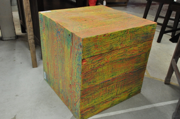"Warna Cube Price: $295, color varies 20""W x 20""D x 20""H"