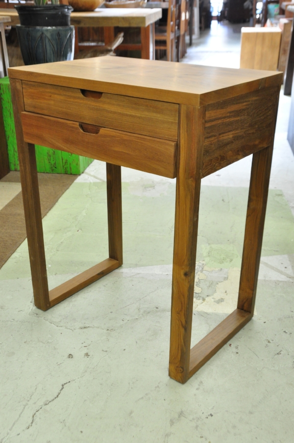 "Malang 2-Drawer Side Table Price: $399 23.6""W x 16""D x 29.5""H"