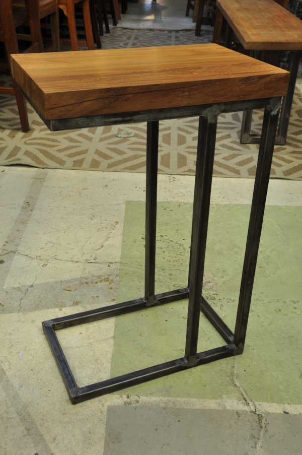 "Besi Teak Side Table Price: $295 16""W x 10""D x 24""H"