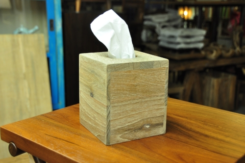 "Tissue Box Cover Price: $44, 5 x 5 x 6""H"