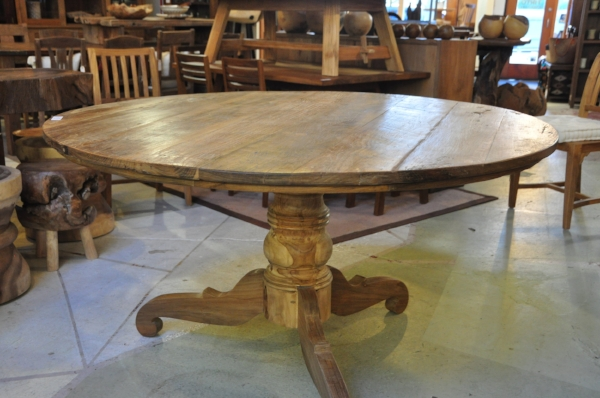 "Dingklik Round Pedestal Table Price: $1,598 58""D x 30""H"