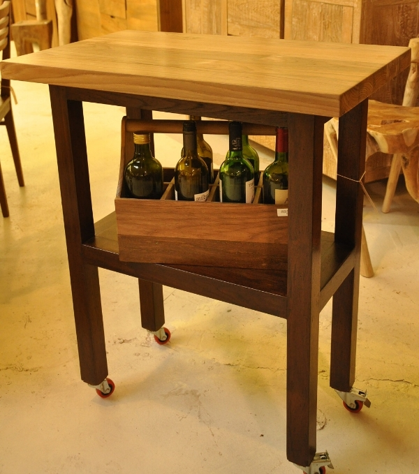 "Bar Table with Wheels Price: $550 30""W x 18""D x 36""H"