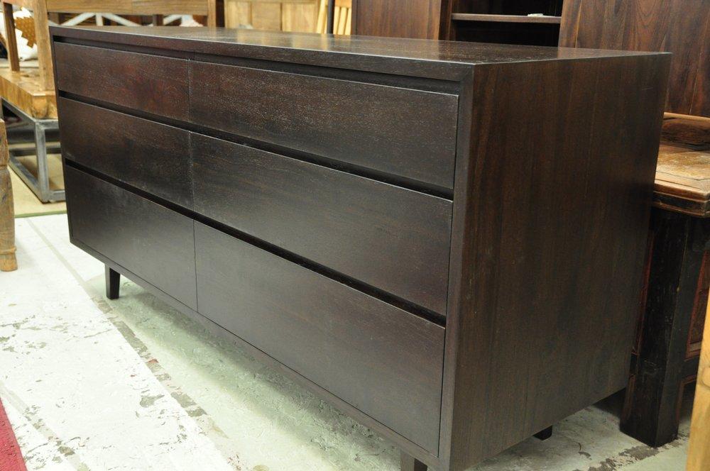 "6-Drawer Dresser    62""W x 20""D x 31""H     Price: $1,695"