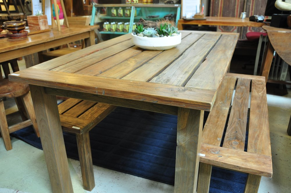 "Dingklik Outdoor Table   60""Wx34""Dx30""H  Price: $900"