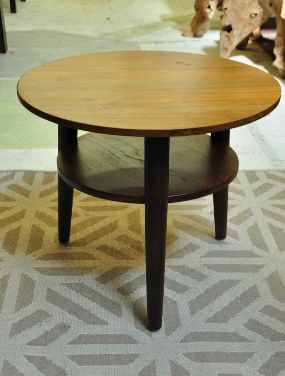 "Tumpuk Round Side Table Price: $422 23""Dx19""H"