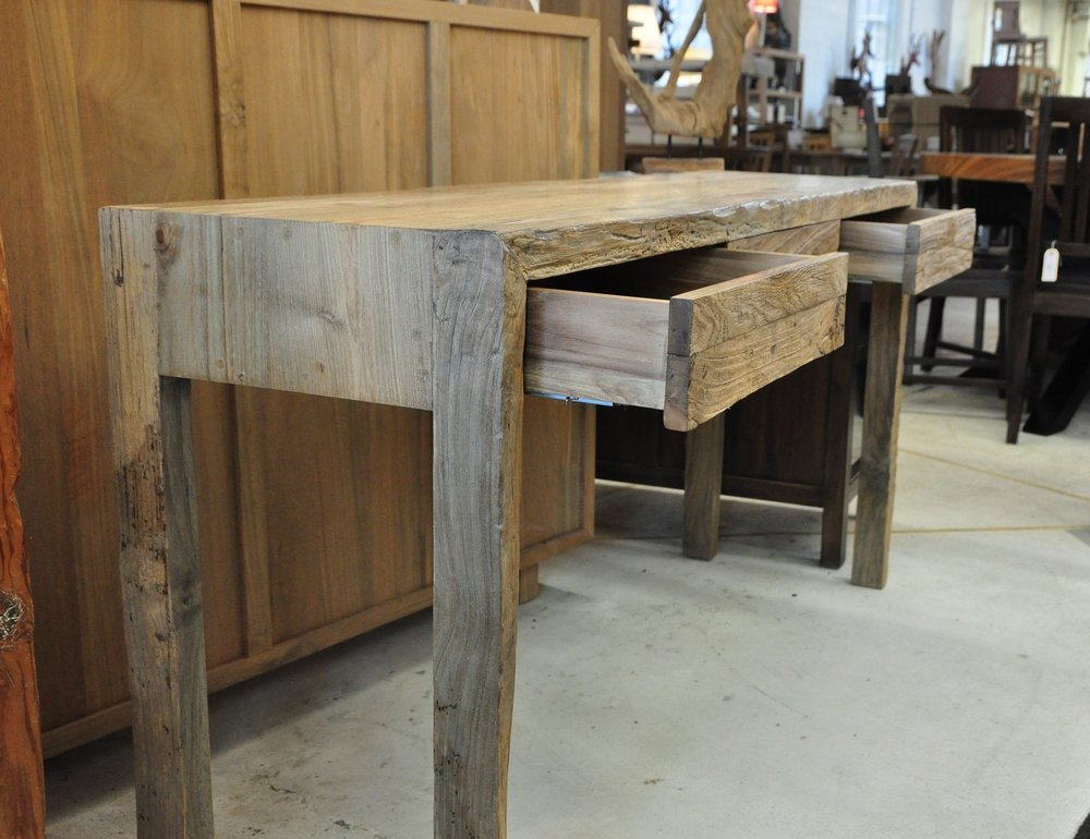 "Aus 3-Drawer Console Table   60""W x 16""D x 30""H   Price: $875"