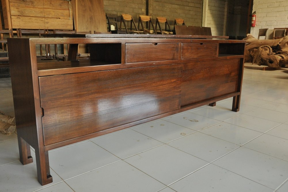 "Jepang Buffet Cabinet   86""W x 14""D x 30""H   Price: $1,725"