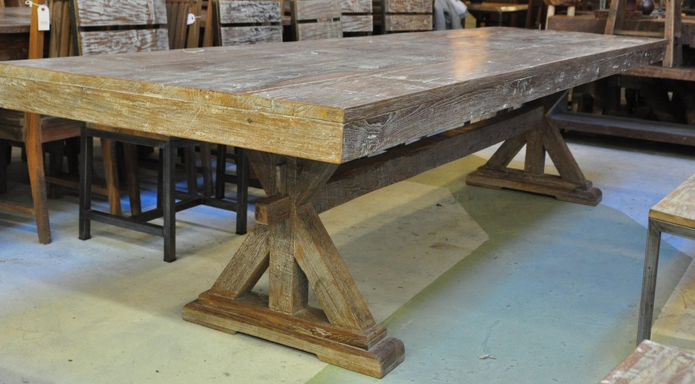 "X-Base Table    $1,525,  84""L x 40""D x 31""H   $2,375,  130""L x 38""D x 31""H"