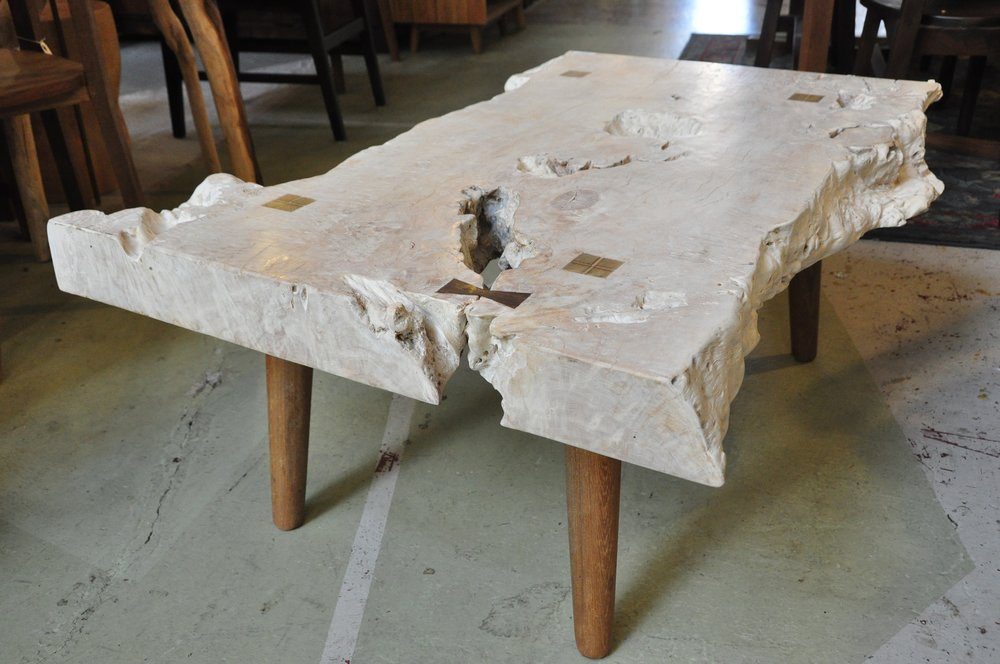 "Lychee Coffee Table   35.5""W x 17""D x 18""H  Price: $855   42""W x 28""D x 18""H  Price: $1,100"