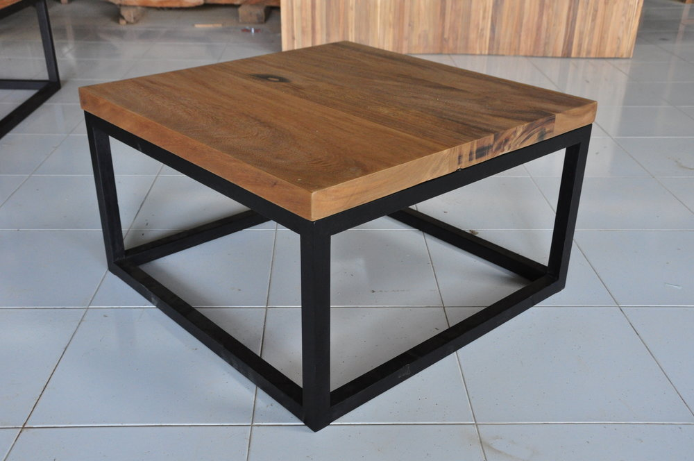 "Menara Cube Teak Coffee Table   31""W x 31""D x 18""H   Price: $650"