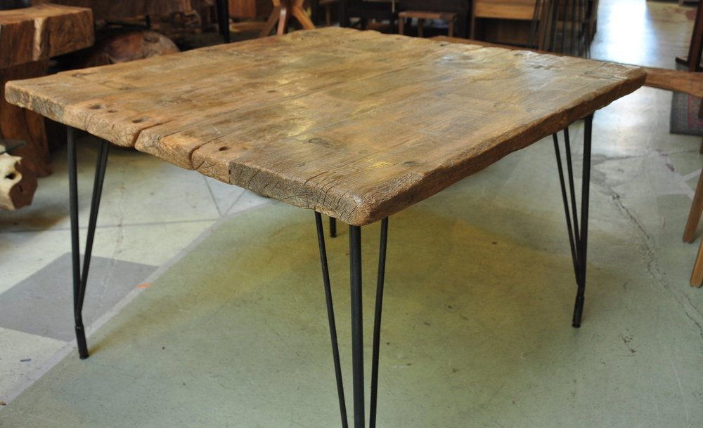 "Aus Pin Dining Table   47""Wx42.5""Dx31""H  Price: $950"