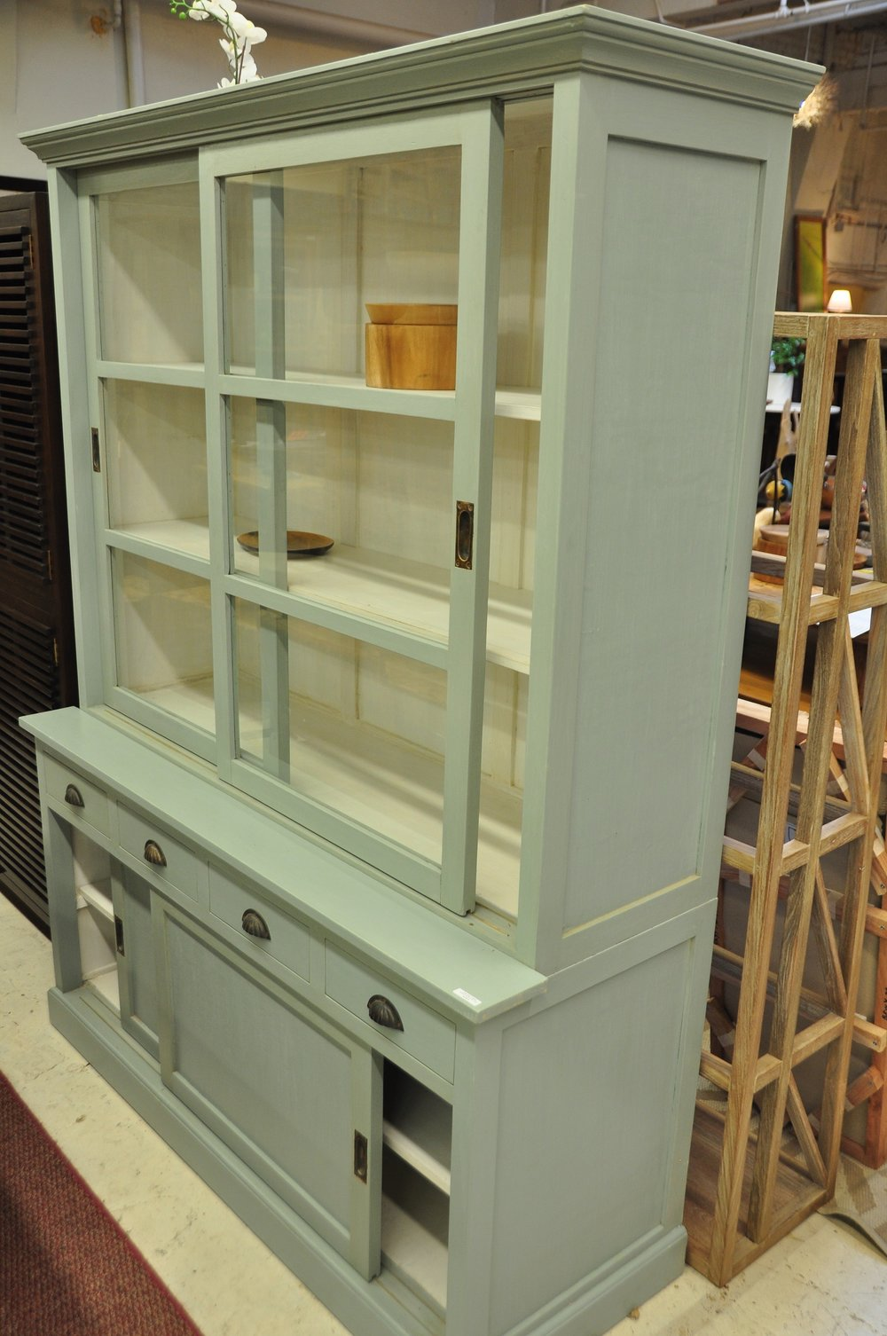 "Oma Hutch Cabinet  59""Wx21""Dx76""H.  Price: $2,450"