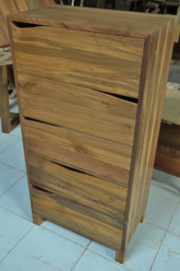 "Tumpuk 5-Drawer Dresser   26""W x 16""D x 52""H   Price: $1,500.00"