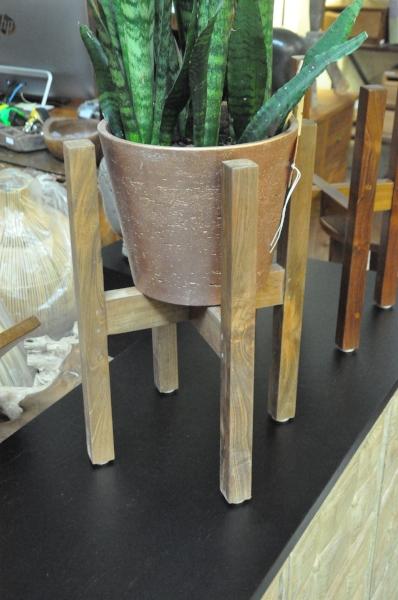 "Teak Plant Stand  12""Wx12""Dx17""H   Price: $45"
