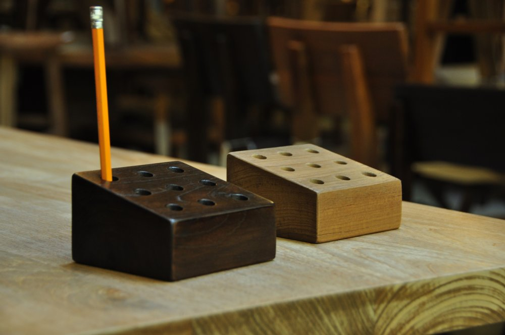 "Miring Pencil Holder    Price: $17 , 4""W x 4""D x 2.5""H"
